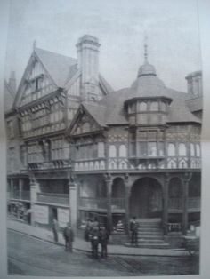 The Cross, Chester, England, 1890. T. M. Lockwood. Photo