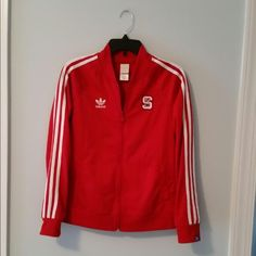 Adidas NC State Jacket In great condition adidas NC State jacket. Size medium. No damages or signs of wear!! Adidas Jackets & Coats