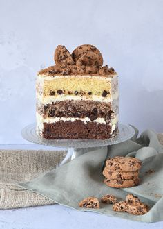 Chocolate chip taart - Laura's Bakery Bakery Recipes, Dessert Recipes, Mini Cakes, Cupcake Cakes, Bake My Cake, Cake Bites, Sweet Pie, Drip Cakes, Let Them Eat Cake