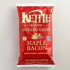 One of my favorite discoveries at WorldMarket.com: Kettle Brand Maple Bacon…