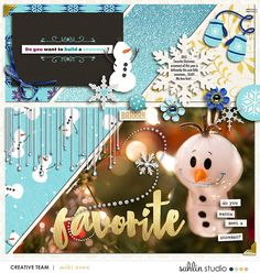 Holiday digital scrapbooking page featuring Project Mouse: Ice by Britt-ish Designs and Sahlin Studio Scrapbook Designs, Scrapbooking Layouts, Digital Scrapbooking, Disney Scrapbook Pages, Toned Paper, Build A Snowman, Journal Cards, Creative Inspiration, Hold On
