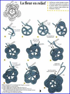 Irish lace, crochet, crochet patterns, clothing and decorations for the house, crocheted. Crochet Flower Tutorial, Crochet Diy, Crochet Flower Patterns, Love Crochet, Learn To Crochet, Crochet Motif, Irish Crochet, Crochet Flowers, Crochet Stitches