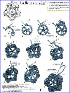Patrones de flores de crochet - Las Manualidades