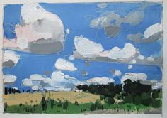 Little Saturday House Original Summer Landscape by Paintbox