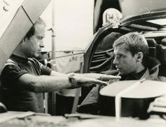 Ridley Scott & Harrison Ford on set of Blade Runner