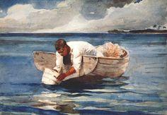 The water fan Artist: Winslow Homer Start Date: 1898 Completion Date:1899