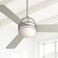 "Casa Vieja Trifecta Ceiling Fan - 44"" Brushed Nickel"