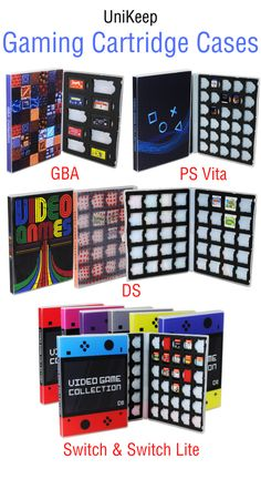 Keep your video games safe and organized with the UniKeep Video Game Storage Binders. A great gift for gamers of all ages, this case binder sports stylish gaming themed, digitally printed design and keeps your games at your fingertips. Video Game Organization, Video Game Storage, 90s Video Games, Computer Video Games, Nintendo Switch Accessories, Console Storage, Video Game Collection, Nintendo Switch Games, Gamer Gifts