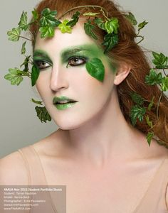 Academy of Makeup Arts  #green #earth #makeup.