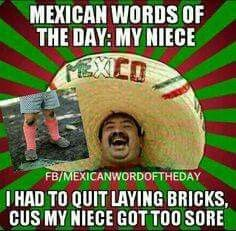 We've compiled a list of the 10 best Mexican words of the day. Mexican Word Of Day, Mexican Words, Mexican Quotes, Mexican Memes, Mexican Funny, Mexican Stuff, Mexican Spanish, Word Up, Word Of The Day