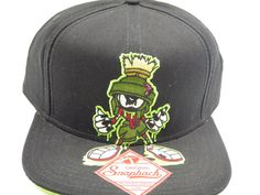 Marvin the Martian Looney Tunes Bioworld Black Snapback Hat  #Bioworld #BaseballCap