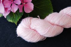 Organic Vegan  Bamboo Yarn Pink cloud  Hand dyed by Klarabela
