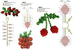ягоды из бисера