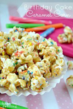 Birthday Cake Caramel Corn ~ lemontreedwelling.com