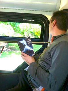 "He got Caught Reading ""Fifty Shades Of Grey"" In Public  YOU GUYS. This is what a Kindle is for."