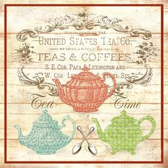 Teas And Coffees Sign Digital Art