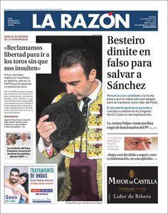 #20160313 #ESPAÑA #SPAIN Domingo 13 MAR 2016 #LaRAZÓNdiarioESPAÑA http://en.kiosko.net/es/2016-03-13/np/larazon.html