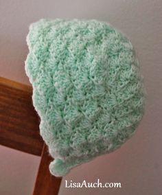 Baby Shell Bonnet Free Crochet Pattern free crochet patterns baby bonnets, vintage baby bonnet with blanket set