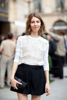 Fall 2012 Couture Street Style: Sofia Coppola is lovely in lace.