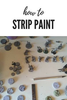 How to Strip Paint from Plastic & Metal Models with Dettol is part of Miniature painting Techniques - miniatures using Dettol This will remove paint, primer, and super glue It's also easy to do and is affordable Warhammer Paint, Warhammer Models, Painting Tips, Figure Painting, Painting Tutorials, Painting Techniques, Remove Paint From Metal, Tabletop, Hobby Lobby Wedding Invitations