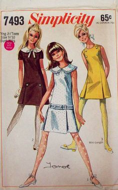Vintage 60's Scooter Dress Sewing Pattern