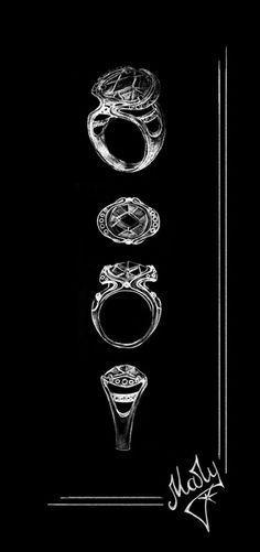 "Designer MaryJu.My sketch of the ring ""July""/Jewellery Design  #mary_judina"