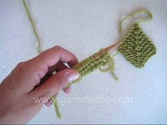DROPS Knitting Tutorial: How to work a domino knit. This is how you knit a domino diamond. Make several for your starting row. Then pick up ...
