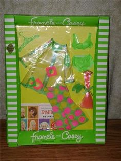 1965 Mod Francie and Casey (and Twiggy) Pazam Fashion No. 325 or 1213 in Box RARE | eBay Barbie