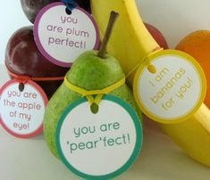 Fruit love notes and other healthy Valentine's Day food ideas.