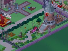 verde - simpson go to hell - ricca tenuta medievale - uffici dell'asma