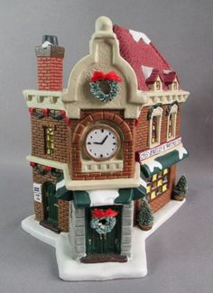 St Nicholas Square Lighted Holiday Jewelry Watch Shop Christmas Retired in Box #StNicholasSquare #Village