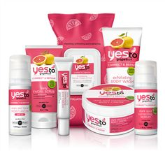 Yes to Grapefruit collection You've said yes to tomatoes, cucumbers, and even carrots in your beauty products. Now you can say it even more — to this tart citrus fruit. The Yes to Grapefruit collection, including a body wash, facial scrub, facial towelettes, moisturizer and more, conditions skin with Vitamins A and C and boasts an addictive, fresh scent — giving lemons some stiff competition. ($9.99-$19.99, Drugstore.com)