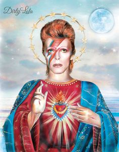 Saint David Bowie will always will on in our hearts and our art. May you rest in peace, David, you are so loved.  Print Details: This is a high quality