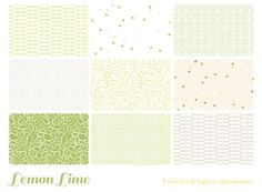 Check out Lemon Lime 9 web tiles & digi papers by michL g studios on Creative Market