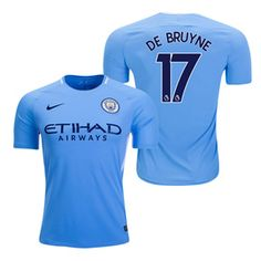 Nike Youth Manchester City De Bruyne #17 Soccer Jersey (Home 17/18): http://www.soccerevolution.com/store/products/NIK_41139_A.php