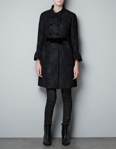 this might help make winter bearable...WOOL AND LACE COAT - Coats - Woman - ZARA United States