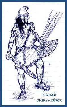 Harad skirmisher by Merlkir on DeviantArt