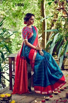 Zarna saree with blouse..ready stock