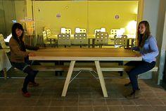 Tafelwip table already set up at #miba, by Marleen Jansen