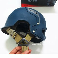 Película Capitán América: Capitán América Casco de Guerra Civil [veterano Version] Steve Rogers 1:1 USABLE Máscara Cosplay Replica Prop