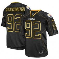 NFL Mens Elite Nike  Pittsburgh Steelers #92 James Harrison Lights Out Black Jersey$129.99