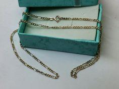 Vintage Halsschmuck - Figarokette 925 Silber Halskette Silberkette HK223 - ein Designerstück von Atelier-Regina bei DaWanda