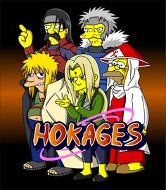 Naruto Simpsons - Hokages by lloydvdw on DeviantArt