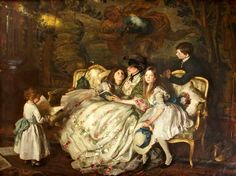 The Birthday, 1910, by George Harcourt (Scottish 1869-1947)