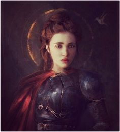 St. Joan of Arc Saint Joan Of Arc, St Joan, Spiritual Warrior, Warrior Spirit, Dungeons And Dragons, Shield Maiden, Bride Of Christ, Portraits, Pre Raphaelite