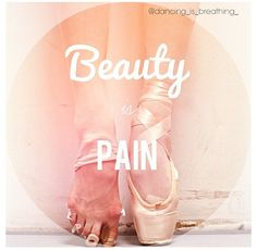 beauty is pain