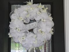 Deluxe Wedding Wreath Wedding Gift Bridal Shower by SouthernSassHD, $139.99
