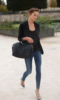 Love the casual and classy look with the Valentino studded pumps