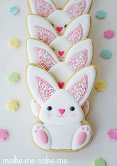 These bunny cookies are absolutely adorable. Use your favorite sugar cookie recipe and follow along with this tutorial to make these sweet little Easter treats.