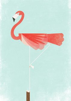 """ (Kung fu Flamingo is on threadless! Via designersof) "" Flamingo Art, Pink Flamingos, Flamingo Vector, Flamingo Wallpaper, Bird Illustration, Graphic Design Illustration, Pink Bird, Tropical, Bird Feathers"